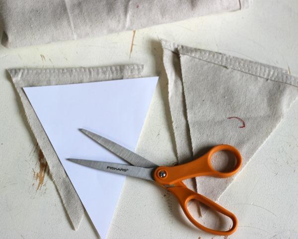 Drop Cloth Pennant Banner.
