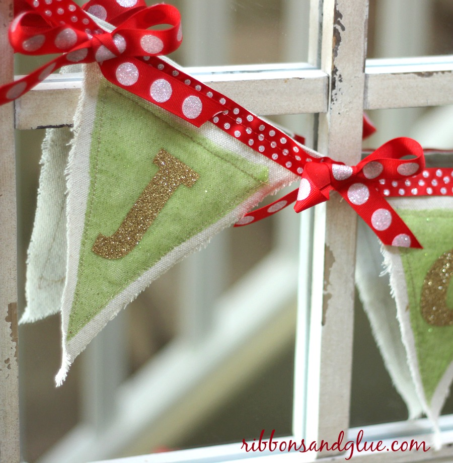 Drop Cloth Christmas Banner