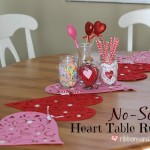 DIY No-Sew Heart Table Runner