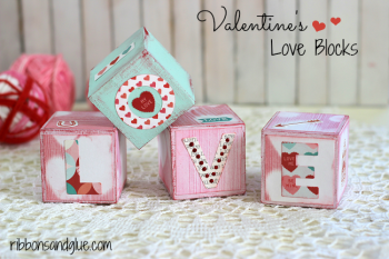 DIY Valentine's Love Blocks made with @decoart chalky finish paints and @echoparkpaper Love Struc