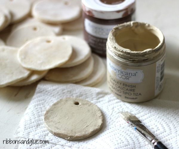 How to make Salt Dough Ornaments Rustic with paint