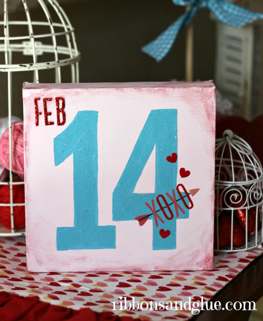 Valentine's Canvas Pinterest