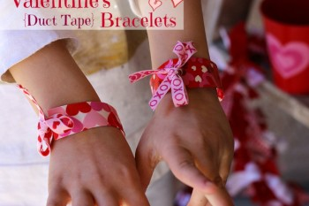 Valentine's Duct Tape Bracelets