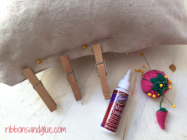 Use Fabric Fuse to close pillows