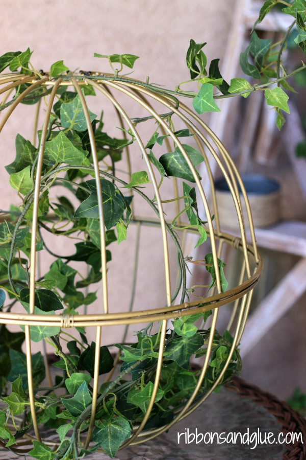 Repurposed Garden Basket