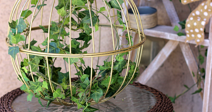 Repurposed Iron Baskets into Garden Decor