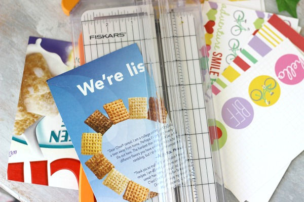 Use cereal boxes to make chipboard mini albums