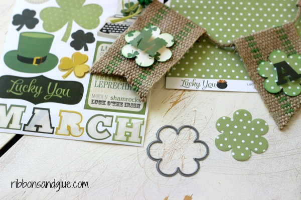 How to make a St Patrick's Day Banner with Echo Park Paper Lucky You Kit