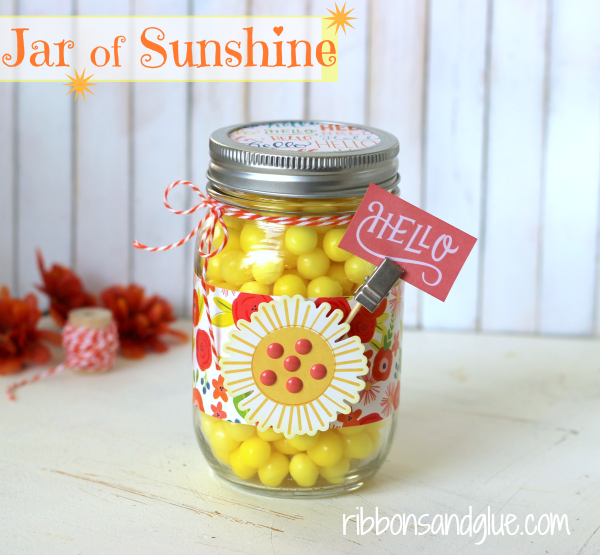 Mason Jar full of Sunshine to brighten up those cloudy days