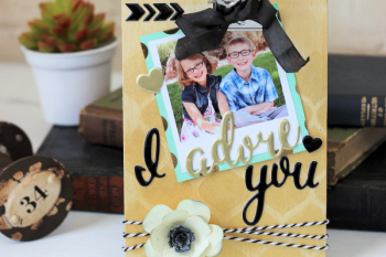 DIY Clipboard Picture Frame made with the @pebblesinc Cottage Living collection