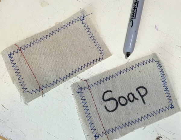 Stiched Laundry room Canvas Tags