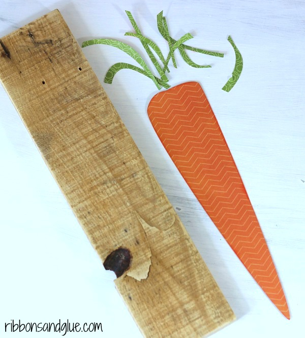 Carrot Cut File adhered on to pallet wood