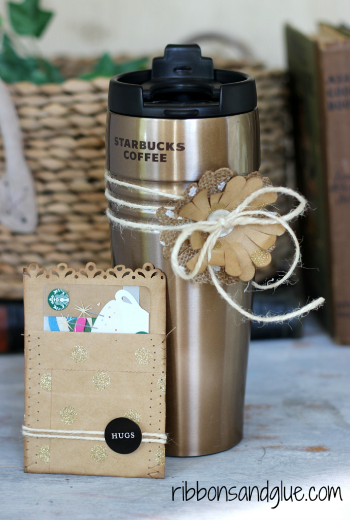 Warm your Mom up this Mother's Day with a Coffee Tumbler and Gift Card Set. Easy DIY Project for a Mother's Day Gift.