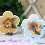 Flower Shaped Cards made with @silhouettepins and @pebblesinc Home Grown collection