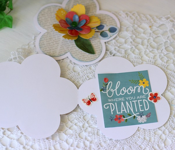 Trim out a Journaling card from scrapbook paper to use as a card sentiment