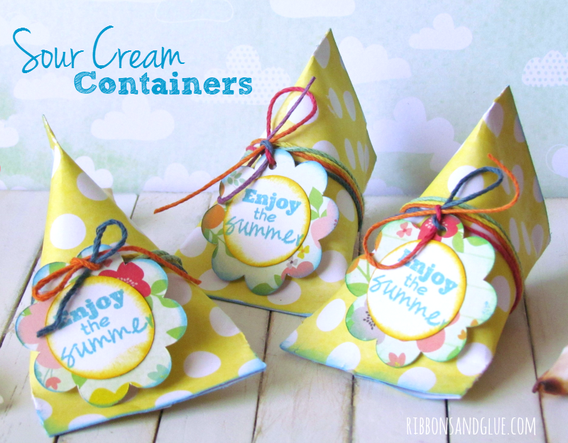 How to make Sour Cream Containers. Great end of school classroom treats!