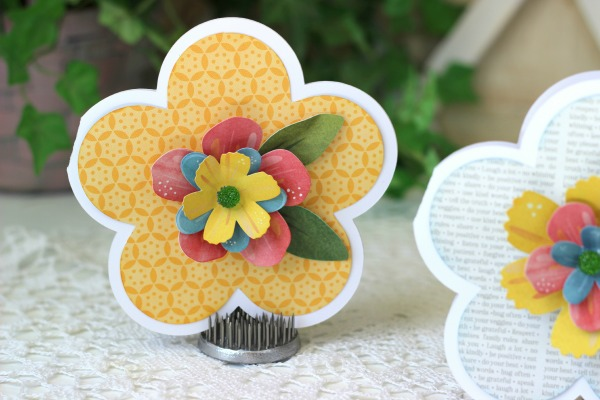 Yellow Spring Flower made with @silhouettepins
