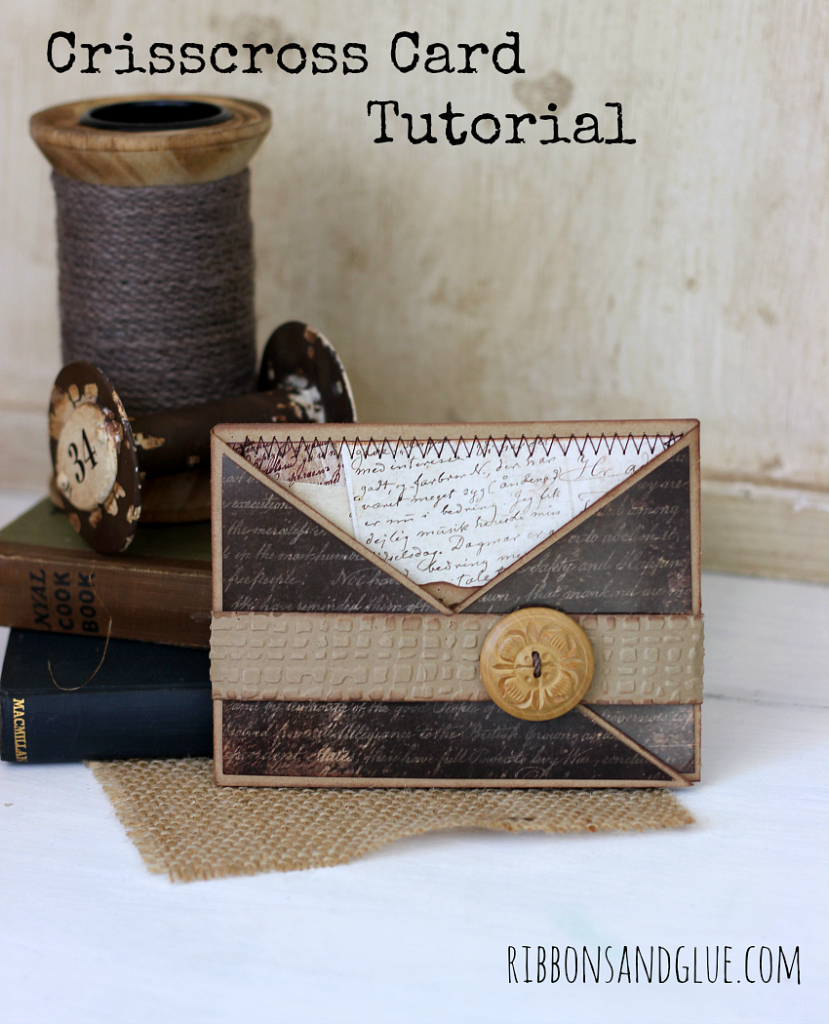 Tutorial on how to make a Crisscross Card for Father's Day