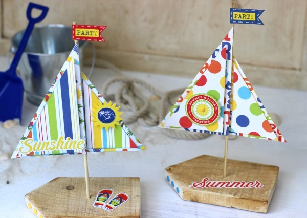Wood Sailboat Decor made from scrap pallet wood