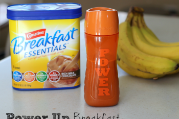 Power Up Breakfast with Nestle Carnation Breakfast Essentials and a customized cup.