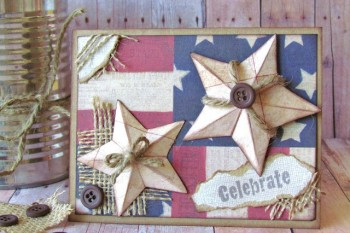 Rustic Star Card