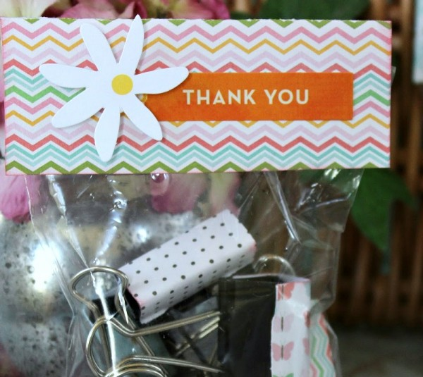 Thank You Bags to hold metal clips Easy Teacher Gift Idea!