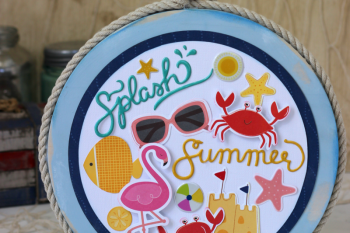 Nautical Beach Collage made with @pebblesinc Fun in the Sun collection and @silhouetteamerica
