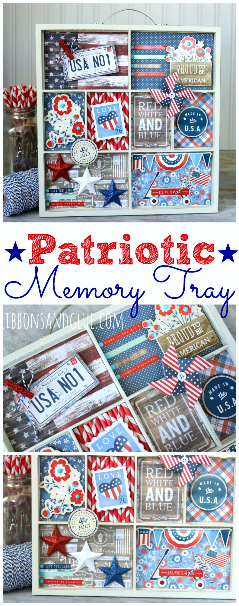 Patriotic Memory Tray USA
