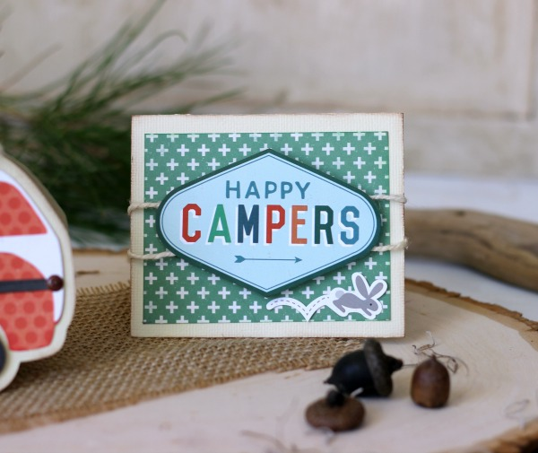 Happy Camper Card made with @echoparkpaper The Wild Life kit
