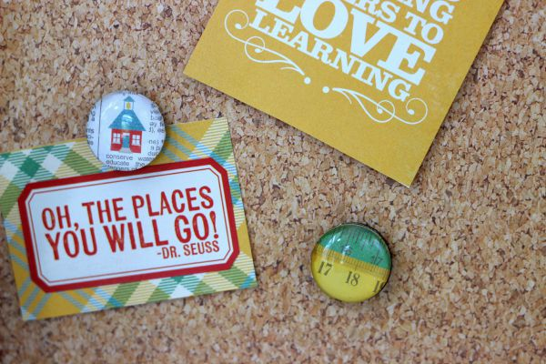 DIY Glass magnets made with the @echoparkpaper Teacher's Pet kit
