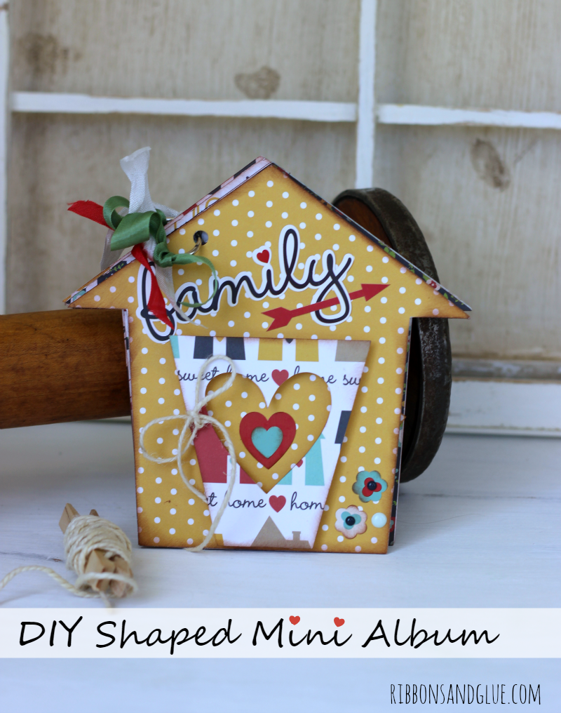 DIY House Shaped Mini Album! See how easy Mini Albums are to make with or without a die cutting machine