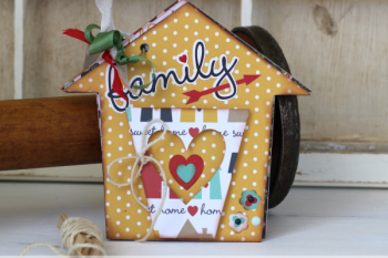 DIY House Shaped Mini Album made with @echoparkpaper For the Home kit and @silhouetteamerica