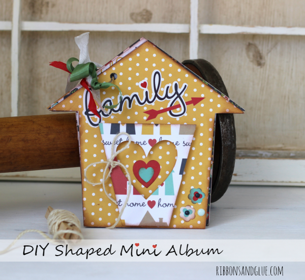 DIY House Shaped Mini Album made with @echoparkpaper  Our Family  kit and @silhouetteamerica