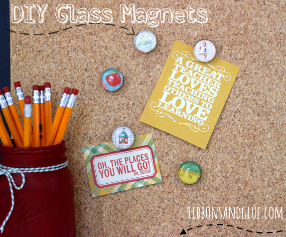How to make Glass Magnets. Perfect and easy idea for a Back to School!