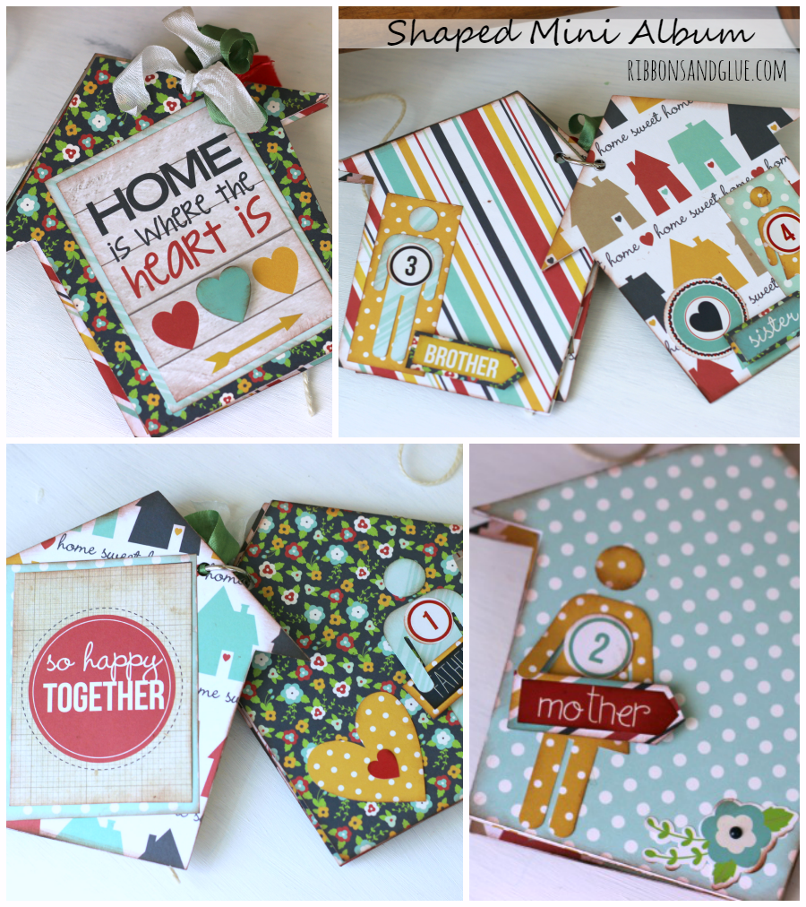 Mini Album made with @echoparkpaper Our Family kit and @silhouetteamerica