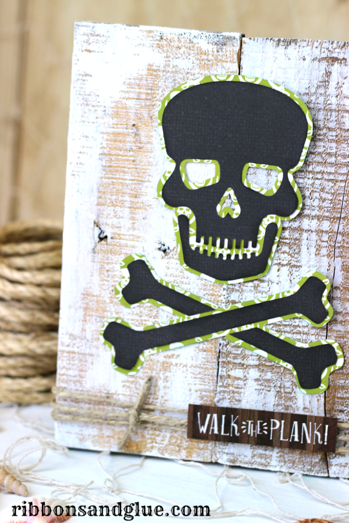 Pirate Pallet Art made with @silhouetteamerica and @echoparkpaper