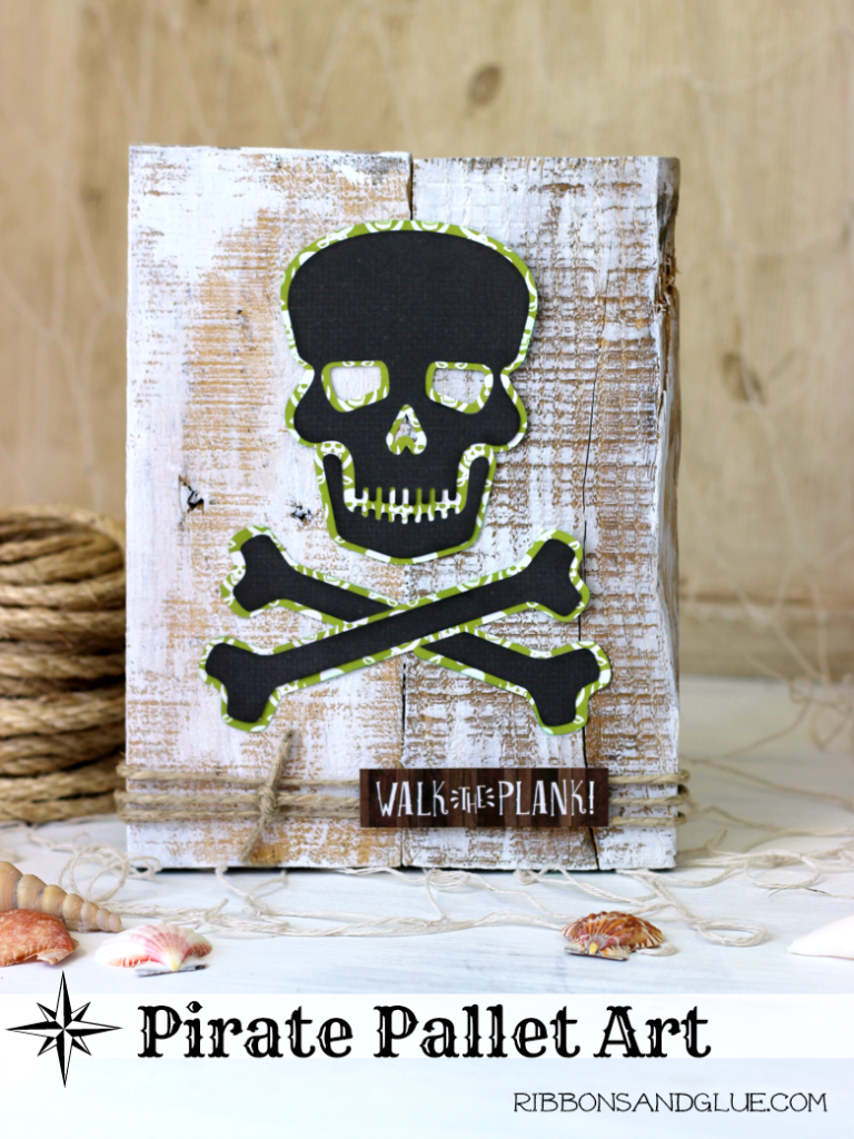 Pirate Pallet Art made with @silhouetteamerica and @echoparkpaper. Could also be a great Halloween project!! Argh!