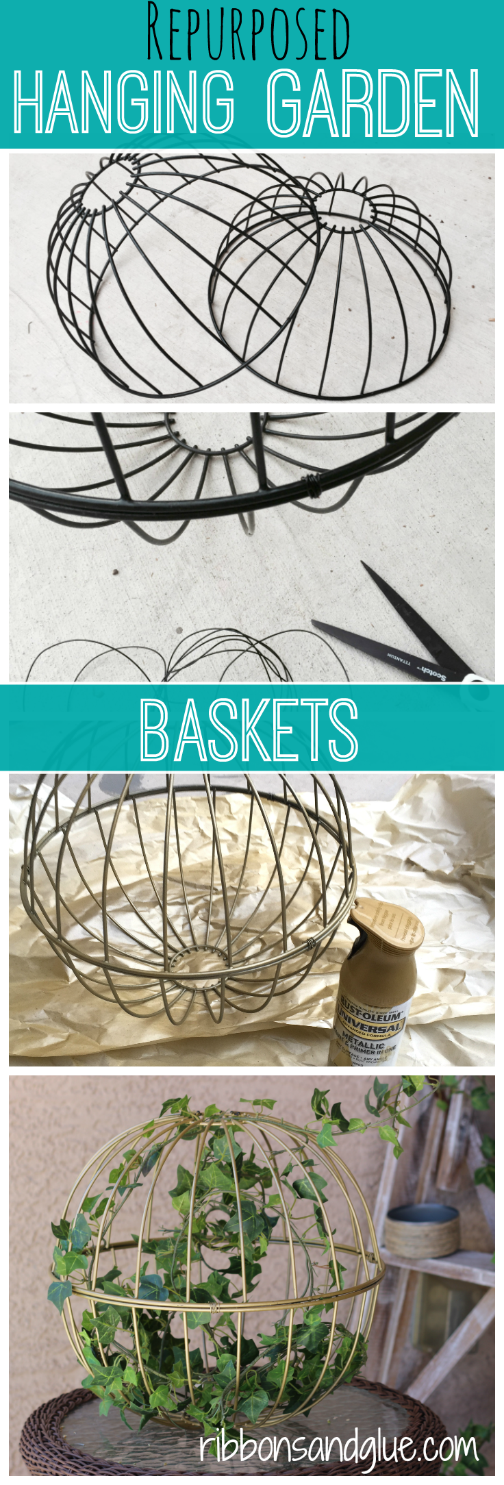 Repurposed Garden Baskets Pin