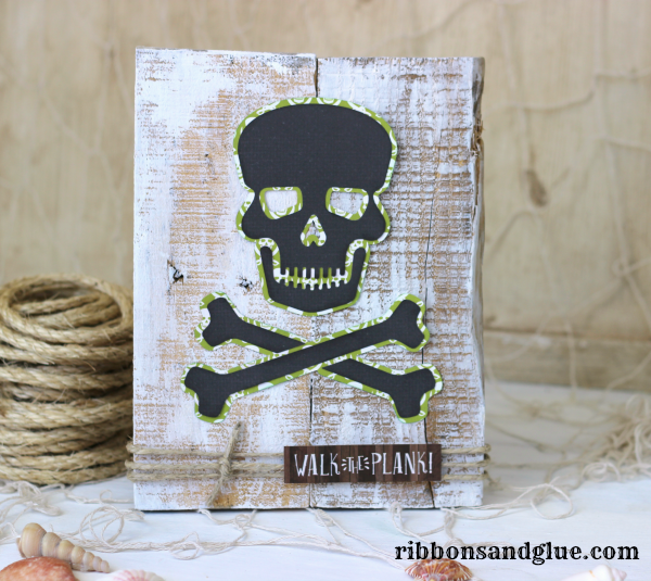 Skull and Cross Bone Pallet Art made with @silhouetteamerica and @echoparkpaper