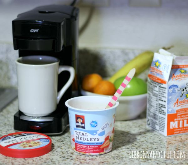 Hotel Breakfast- Quaker Oats Yogurt Cups- A Breakfast Party!