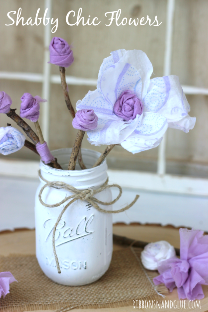 You Will Never Guess What These DIY Shabby Chic Flowers Made From Such A Fun