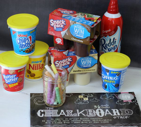 How to make An Easy After School Activity and Snack idea using Chalkboard Paper. #SnackAndGo