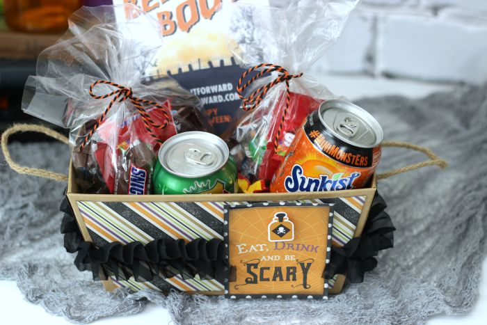 Creative Halloween BOO Kit with Printable. Fill box with Halloween treats, add in printable and leave at neighbors doorstep. #BOOItForward