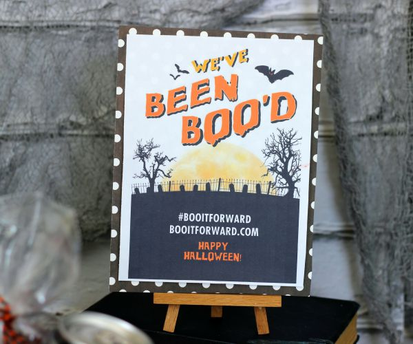 Free We;'ve Been Boo'd Printable