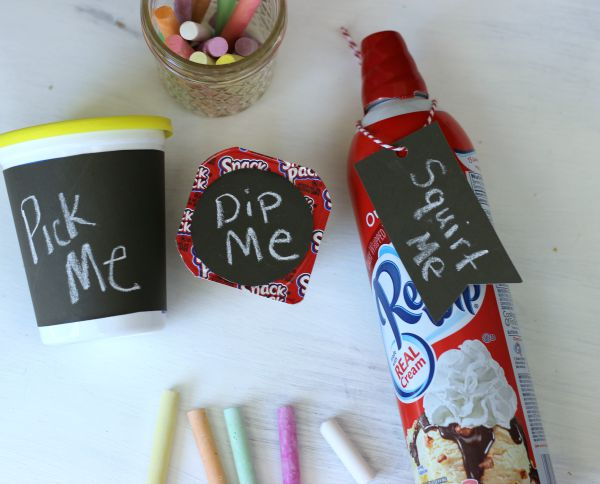 An Easy After School Activity and Snack idea using Chalkboard Paper. #SnackAndGo