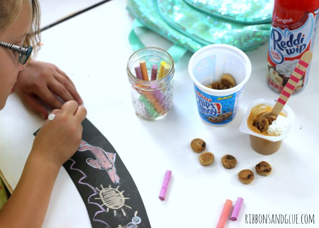 After School Activity and Snack with chalkboard paper