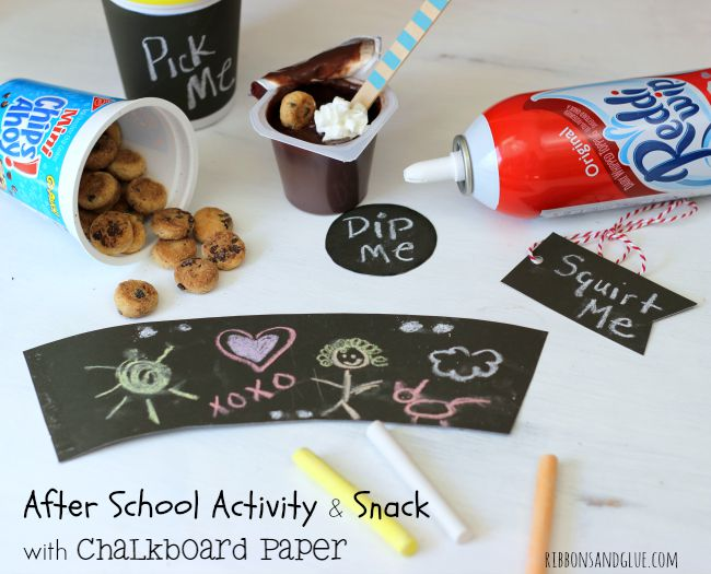 After School Activity and Snack idea using Chalkboard Paper. #SnackAndGo