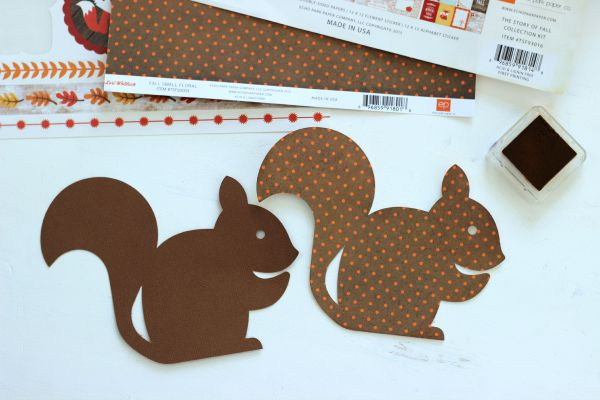 How to make a shaped card out of die cuts. Cut the base twice then adhere one side together. Instant card!