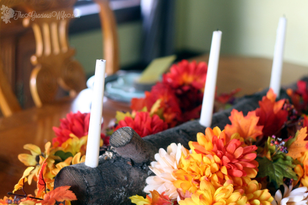 Fall Wood Projects Round Up- Rustic Thanksgiving Centerpiece
