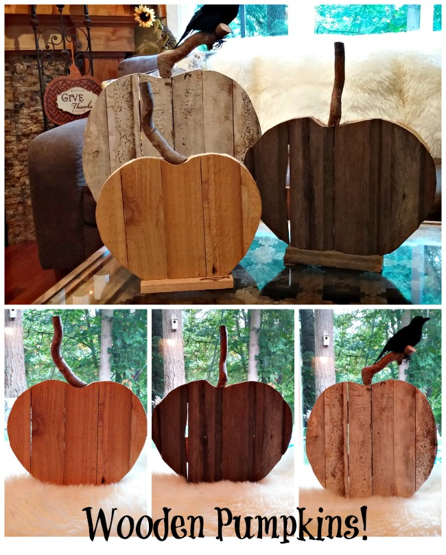 Fall Wood Projects Round Up- DIY Rustic Fall Pumpkins